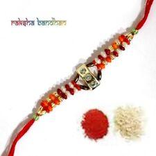 Rakhi Fancy Rakhee Raksha Bandhan & Shubh Tikka - Fast Shipping - USA Seller