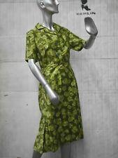 Roy KLEID M-L  NOS abstrakt geblümt 60er TRUE VINTAGE Rockabilly 60s tea dress