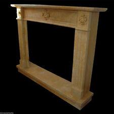 Camino Marmo Giallo Siena Classic Interior Design Marble Fireplace Stile Impero