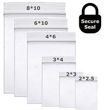 Clear Resealable Bag Zip Lock Plastic Ziplock Bags Poly Zipper 207mil 226mil