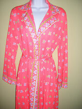 Emilio Pucci for FR Vtg 60's 3pc Mod Wrap long slvDress/Duster,belt,pants M RARE