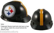 MSA V-Gard Cap Type Pittsburgh Steelers NFL Hard Hat Pin Type Suspension