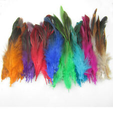 Fashion NEW mix Colors 600Pcs Feathers hair for extensions 6-8 inch 15-20cm long