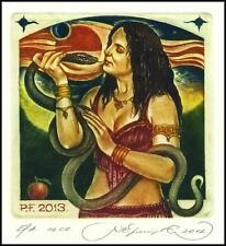 Kirnitskiy Sergey 2012 Exlibris C4 PF Erotic Erotik Nude Nudo Woman Snake 211