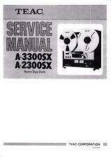 Service Manual-Anleitung für Teac  A-3300SX,A-2300SX