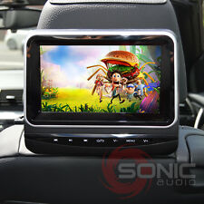 "Universal Car 7"" HD Headrest DVD Player/Screen USB/SD Inputs Rear Seat Games"