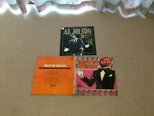 Collection of 3 Al Jolson vinyl LPs The Very Best 20 Greatest Hits 1920s Jazz