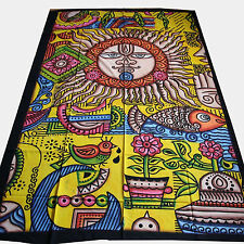 tagesdecke-psychedelic Wall Hanging Decorative Cloth India Goa single bed