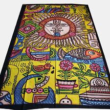 Tagesdecke-PSYCHEDELIC Wandbehang Dekotuch Indien Goa Einzelbett SINGLE