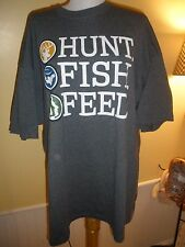 Hunt Fish Feed gray t-shirt 2XL 2010 tour Sportsman Channel