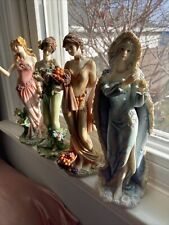 Home Interiors Collectible Decorative Spring,Summer,Autuum,Wint er Figurines Lad