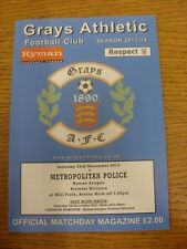 23/11/2013 Grays Athletic v Metropolitan Police  . Thanks for viewing this item,