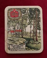 Vintage Beer Bar Coaster STELLA ARTOIS Brewery Arts And Crafts Style 1976