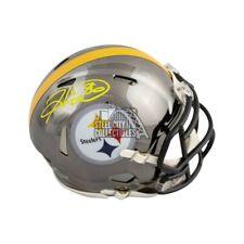Hines Ward Autographed Pittsburgh Steelers Chrome Mini Football Helmet - BAS COA