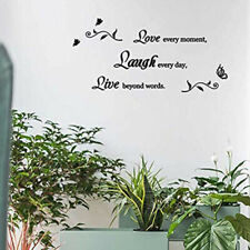 Removable Wall Stickers Ltetter Black Decals PVC Art Home Bedroom Decoration AU