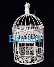 """Wedding White Metal Bird Cage Centerpiece Decoration 20"""" H"""