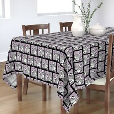 Tablecloth Dalmatians Dogs Paw Prints Paws Black And Cotton Sateen