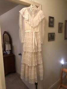 Victorian Edwardian Vintage Lace Wedding Dress Bridal Gown Garden- Candi Jones