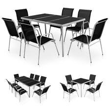 vidaXL Conjunto de Muebles de Comedor para Jardín Negro Diferentes Modelos