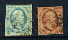 NEDERLAND 1/2 gestempeld 1852 - Koning Willem III