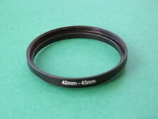 42mm-43mm Stepping Step Up Male-Female Filter Ring Adapter 42-43