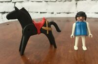 Playmobil Vintage 1972 Figure and Horse With Red Saddle  #3