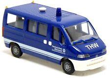 Busch 47327 Fiat Ducato Bus THW BuS Bundesschule Neuhausen MTW blau 1:87 H0