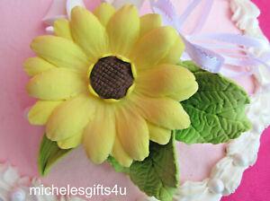 Gum Paste Sugar Sunflower, Calla Lilies & Leaves, Ribbon Cake Decorating Flowers