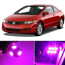 8 x Premium Hot Pink LED Lights Interior Package Kit for Honda Civic 2006-2012