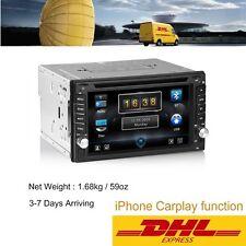 "6.2"" HD 2 DIN Car Stereo BT Radio DVD Player For iPhone Carplay Cast Camera DHL"