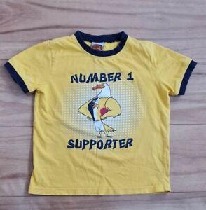 WEST COAST EAGLES WCE kids AFL Football Tee Shirt Size 6