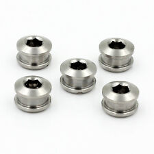 New Titanium Crankset Chainring Bolts Nuts M8 for Fixed Gear Track 5pairs