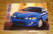 Original 2001 Hyundai Tiburon Deluxe Sales Brochure 01