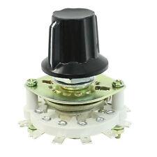 Plastic Knob 1P6T 1 Pole 6 Throw Band Channel Rotary Switch Selector SH W2M Y3Q0