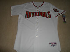 NEW Washington NATIONALS AUTHENTIC Team Majestic Jersey MLB 44 Home Polyester