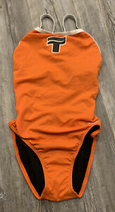 NWT Speedo Endurance Lite Women's Vibrant Orange One-Piece Swimsuit Size 10/36