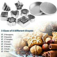 24pcs/Set Cake Stainless Steel Cookie Round Mold Baking Dough AU Cutter E8X7