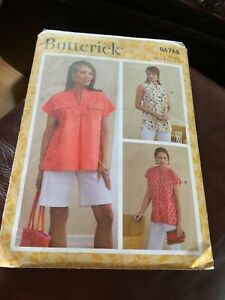 Butterick sewing Pattern B6768 3 styles of blouses