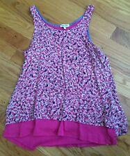 Girls SPLENDID Layered Breezy Tank Top Pink/Floral Size12