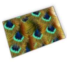 Peacock feather Absorbent Soft Flannel Bathroom Floor Shower Mat Rug Non-slip