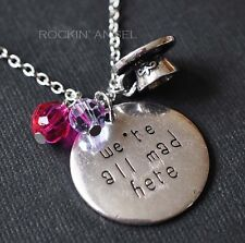 Alice in Wonderland - We're All Mad Here, Pendant Necklace Ladies Girls Gift