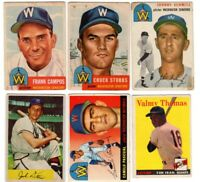 1950s Topps 6 Card Lot Old Baseball cards
