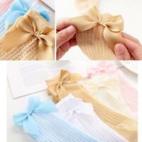 Cute Bowknot Baby Socks Cotton Bows Baby Girls Knee Socks Spring Summer Mesh