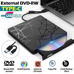 Slim External CD DVD Drive USB 3.0 Disc Player Writer Burner for Mac Laptop