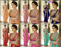 saree indian pakistani ethnic wedding party wear designer blouse sari bollywood.