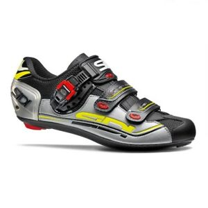 SIDI Genius 7 Carbon Road Cycling Shoes Bike Shoes Black/Silver/Yellow EUR 36-46