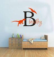 Wall Stickers custom baby name dinosaur large vinyl decal Nursery kids removable