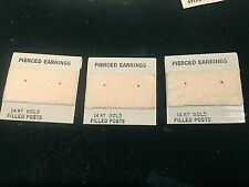 100 Beige Plastic Jewelry Earring Ear Studs Hanging Holder Display Hang Cards
