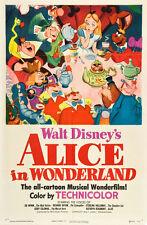 A3 Size - ALICE IN WONDERLAND DISNEY 1951 / Animation Kids Children Posters #5