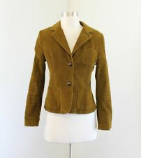 Boden Womens Green Corduroy Blazer Jacket Size UK 8P US 4P